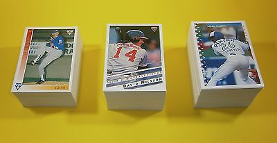 3 complete sets of Futera ABL baseball cards - 1994, 1995 and 1996