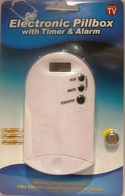 Electronic Pillbox With Timer and Alarm Two Compartments Easy to Use