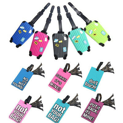 New Design Suitcase Luggage Tags ID Address Holder Silicone Identifier Label Tag