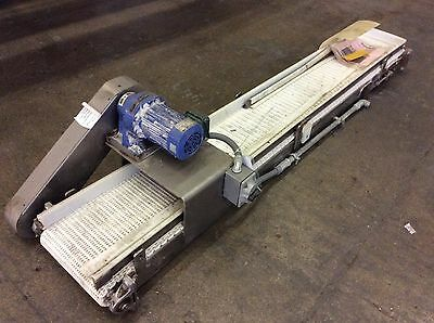 "12""Wx7'L STAINLESS STEEL FRAME FLUSH GRID BELT CONVEYOR 1/2hp Sumitomo Gearmotor"