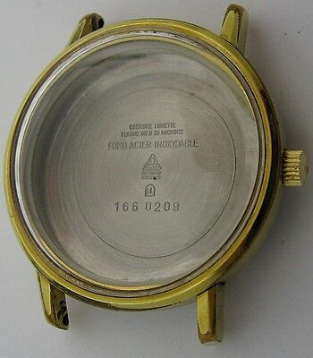 worn Omega Watch Case 166 0209 20 microns gold plated for parts ...