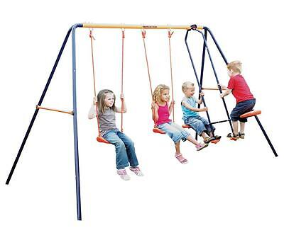 Hedstrom M08601 Double Swing And Glider Combination Neptune Swing Play Set - New