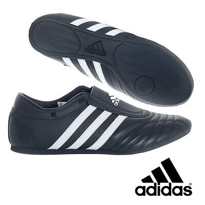 adidas Taekwondo Black Leather Shoes - TSS02-BK