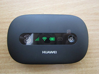 BLACK Huawei E5220 21Mbps 3G HSPA+ mobile broadband WiFi hotspot 3UK EE