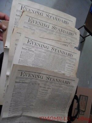 1878 Lawrence Kansas Evening Standard Newspaper Lot Savant Blind Tom Indian Wars