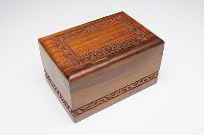 Affordable Rosewood Cremation Urn - 2ND QUALITY - Bargain Price! - XL Size