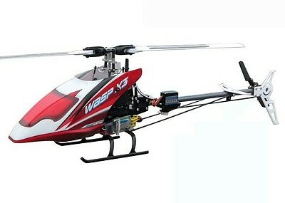 WASP X3 S 6CH CCPM Flybarless RC Helicopter RTF 2.4GHz