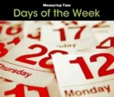 Days of the Week by Tracey Steffora Hardcover Book (English)