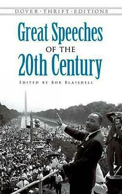 Great Speeches of the Twentieth Century by Bob Blaisdell (English) Paperback Boo