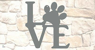 "Puppy Love wall sign 10"" x 10"", Raw Steel NO paint"