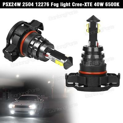 Up to 3000LM 2504 PSX24W 12276 High Power Cree XTE 40W White LED Fog Lights
