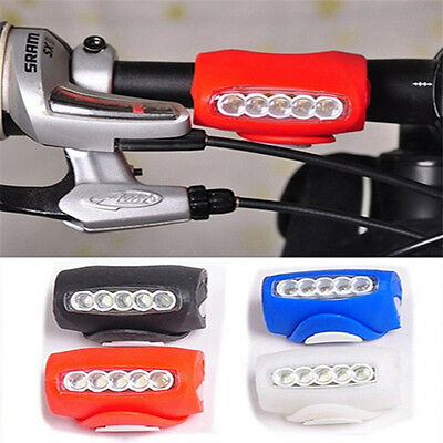 Cycling Bike Bicycle Silicone 7 LED Frog Front Head Light Rear Warning Lamp OH