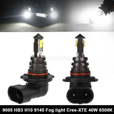 2x 6000K 9005 HB3 CREE LED Fog Driving Light DRL Day Time Running Bulb 40W US