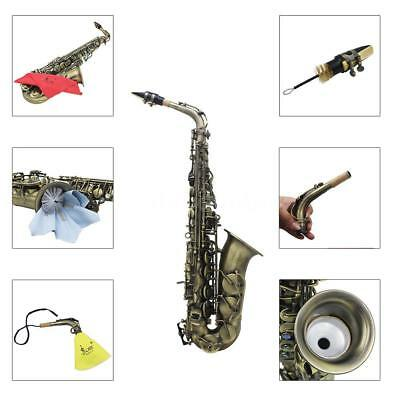 High Grade Antique Eb E-flat Alto Saxophone with Case+Accessories Kit P3B9