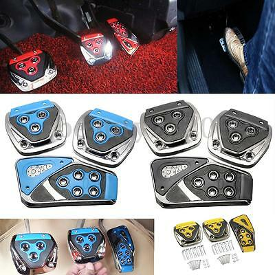 Universal #C  Non-Slip Car Manual Brake Gas Clutch Racing Pedal Pads Cover Set