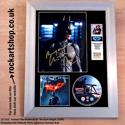 The Dark Knight *SIGNED BY CHRISTIAN BALE* Autographed Framed Christopher Nolan