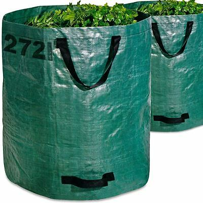 Garden Waste Bag 2x Large Strong Rubbish Grass Leaves Heavy Duty Refuse Sack 272