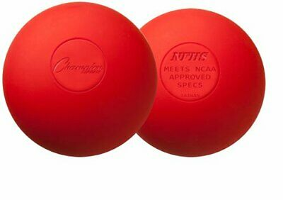 Champion Sports Official Lacrosse Balls (Red, Pack of 12)