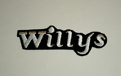 2 Rare Vtg Willys Jeep Automotive Dealer Car Cloth Patch New NOS 1980s Iron on