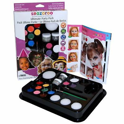 Snazaroo Ultimate Family Party Pack Face Paint Kit Halloween Painting Set