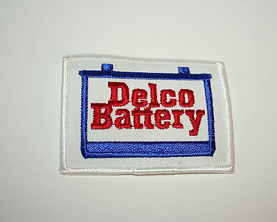 2 Vintage AC Delco Car Racing Automotive Battery Cloth Patch 1970s NOS New