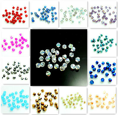 Wholesale 500pcs bicone crystal glass 5301# 3mm loose spacer Jade Bead 80 color
