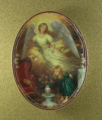 Always By My Side GIFTS OF LOVE Angel Plate #4 Oval Bradford Exchange + COA