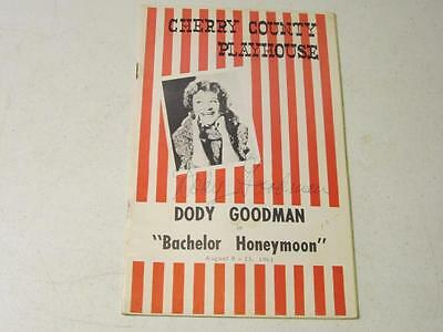 Cherry County Playhouse ~ Bachelor Honeymoon starring Dody Goodman *SIGNED* 1961