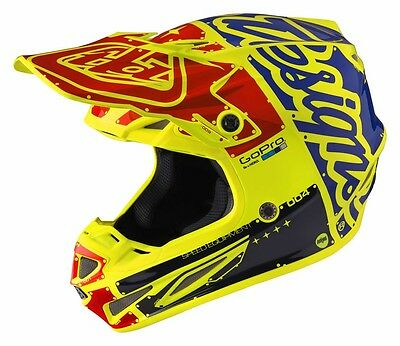 New 2017 Troy Lee Designs Factory Se4 Carbon Fiber Mx Helmet Yellow All Sizes