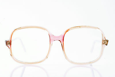 98bebc1befd True Vintage Deadstock Nos Clear Rose Tan Flairspecs Eyeglass Frames Made  In Usa