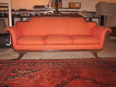 Duncan Phyfe Style Antique Sofa