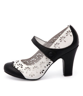 New I Love Billy Tanio Black White Womens Shoes Casual Shoes Heeled