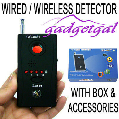 Bug Detector Hidden Camera Video GSM Wireless Device Finder Security Spy Monitor