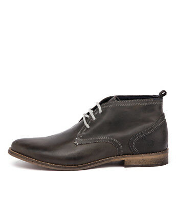 New Wild Rhino Chism Dark Grey Mens Shoes Dress Boots Ankle