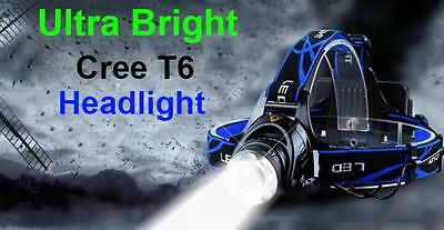 Camping 2600 Lm XM-L T6 LED Headlamp Rechargeable Head Light Torch 18650 Fishing
