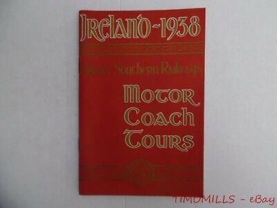 1938 IRELAND Motor Coach Tours Travel Guide Brochure Great Southern Railways