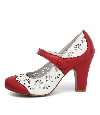 New I Love Billy Tanio Red Off White Womens Shoes Casual Shoes Heeled