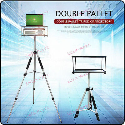 NEW Double Pallet Funtional Laptop/Notebook/Projector Tray Holder Tripod Stand