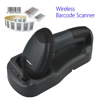AU STOCK! 300M Wireless Cordless Portable Barcode Laser Scanner Reader Hand-held