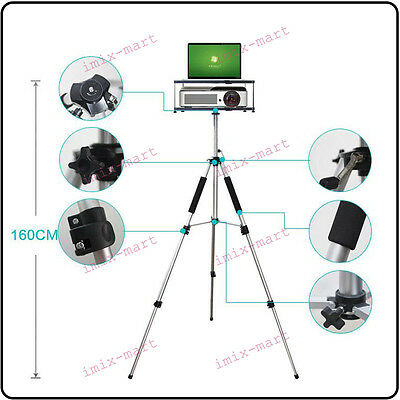 Funtional Double Pallet Laptop / Notebook / Projector Tray Holder Tripod Stands
