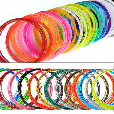 NEW 3D Printing Pen Drawing Filament Printer Arts 20 Colours of ABS PLA Material