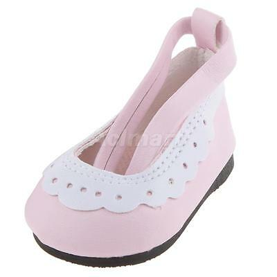 """Pink Ankle Strap Shoes for 18"""" American Girl AG /Our Generation/Journey Doll"""