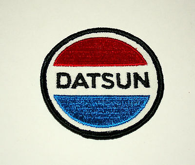 2 Vintage Datsun Nissan Automotive Car Round Cloth Patch New NOS 1970s 280z 240z