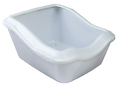 Trixie Cleany Cat Litter Tray With Rim 45x21(29)x54cm White