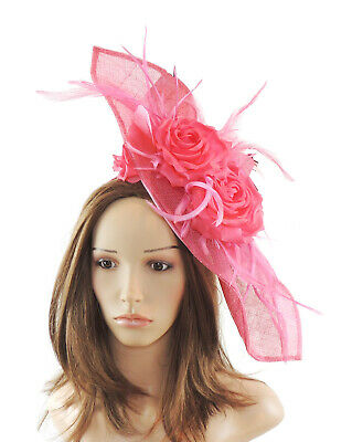 Fuchsia Pink Fascinator Hat for weddings/ascot E3