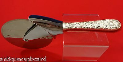 """Repousse by Kirk Sterling Silver Pizza Cutter HHWS  Custom Made 9 1/4"""""""