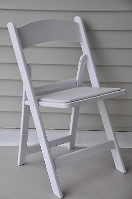 48 Commercial Folding Chairs White Resin Office Meeting Conference Padded Chair
