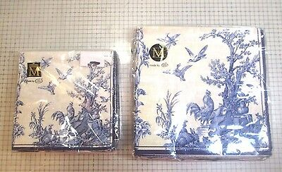 2 New Packages Of Toile Bird Theme Paper Napkins