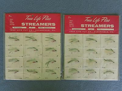 Rare Vintage True Life Flies-Fly Fishing Streamers-White Marabou Nos Sealed Card