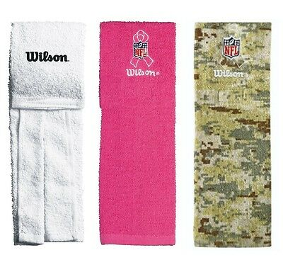 New Wilson NFL Football Field Towel - White / Pink / Camo Camoflauge